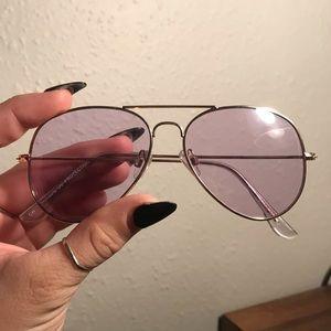 Francesca's Purple Aviator Sunglasses